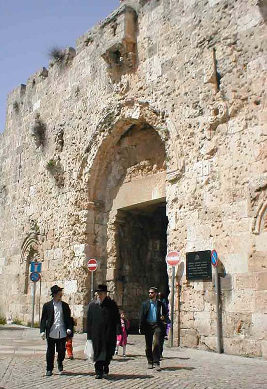 Gate to the Old City in Jerusalem