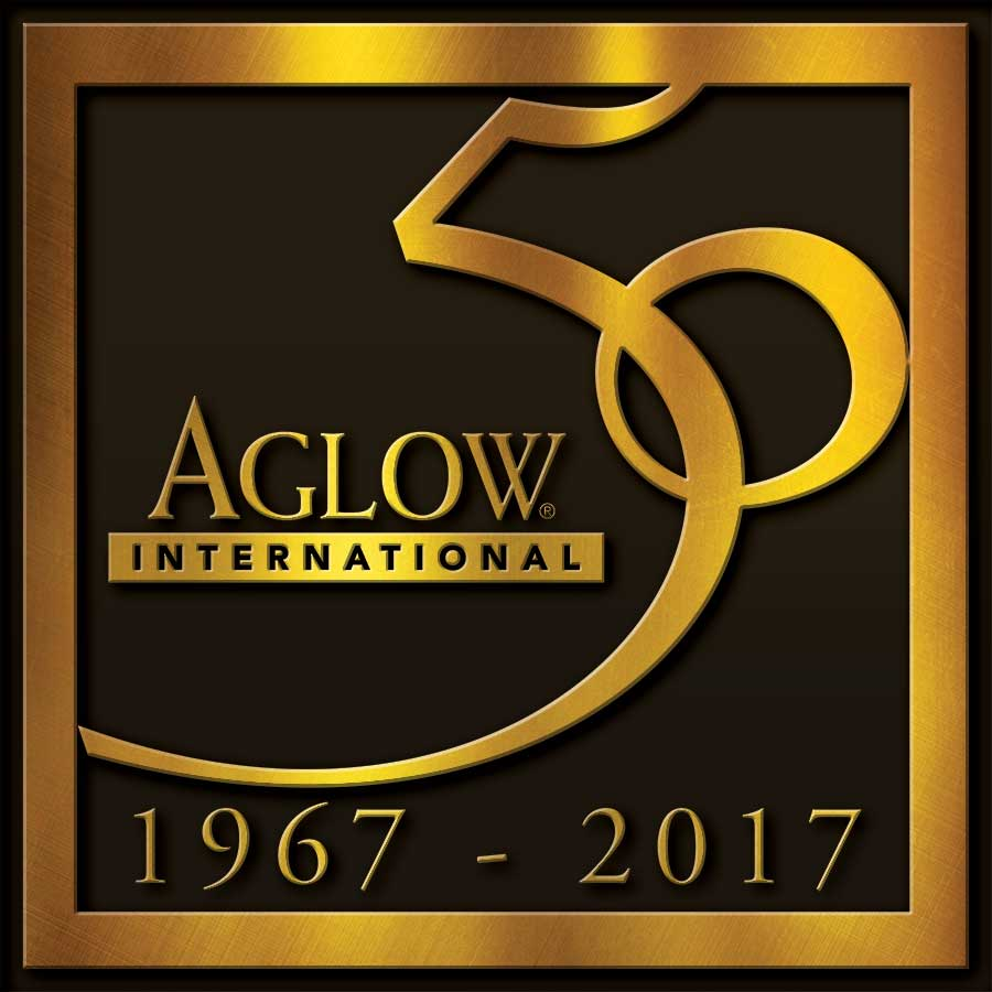 aglow 50th logo